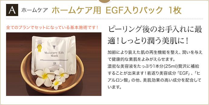 ホームケア ホームケア用 EGF入りパック 1枚